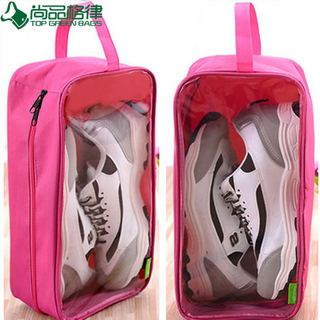 Clear Waterproof Travel Bags Nylon Polyester Shoe Bags (TP-SB023)