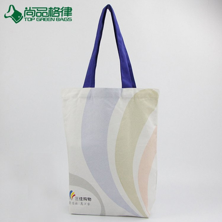 Customized heat transfer printing canvas tote shopping bag cotton bags (TP-SP610)