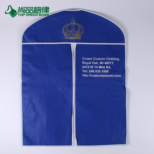 Wholesale High Quality Reusable Non Woven Foldable Travel Garment Bag (TP-GB101)