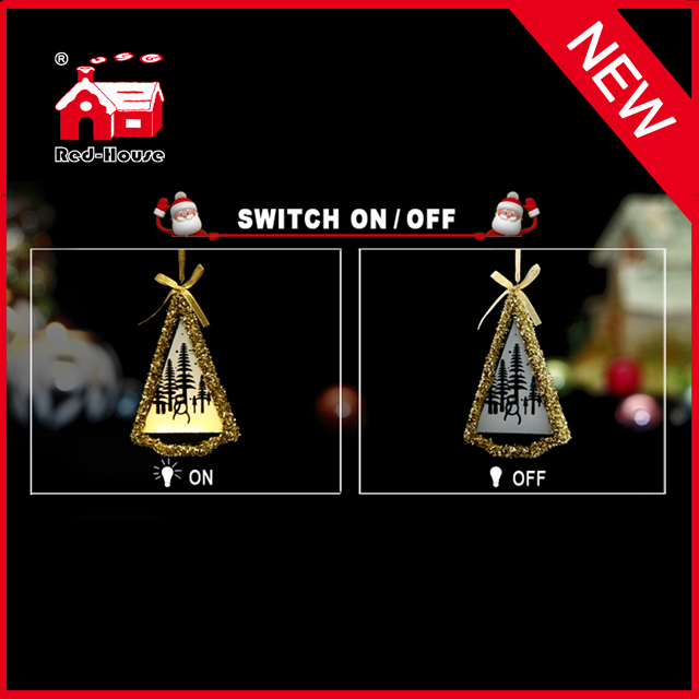 Glass Christmas Hanging Decoration Tree Shape