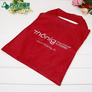 Customized polyester tote shopping bag reusable foldable bag (TP-FB202)