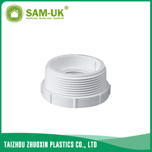 PVC threaded adapter for water supply BS 4346