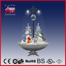 (40110U170-3S-SW) Snowing Christmas Decorations with Umbrella Base
