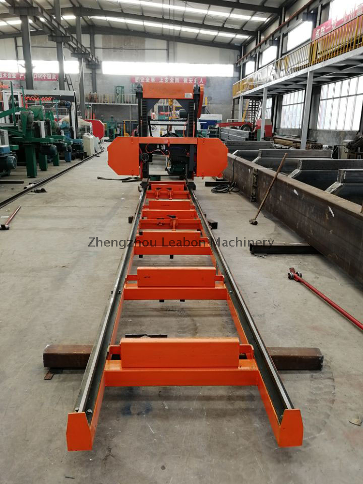Leabon Hot Sale Horizontal Band Sawmill with Electricity Motor