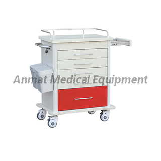 Steel plastic hospital operating Medicine in Emergency Cart
