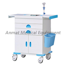Medication For Instrument Emergency Trolley with Oxygen tank holder