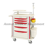 5 ABS drawers anti-corrosion dressing cure medical emergency trolley for sale