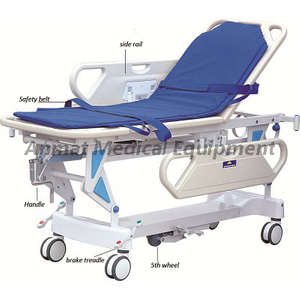 Economic PP side rail with patient transfer trolley