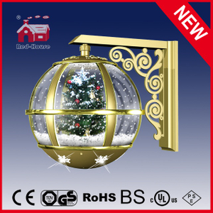 (LW30033S-JJ11) Hot Christmas Tree Wall Lamp Snow Globe Decorative Light