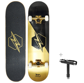 "Merkapa 31"" Pro Complete Skateboard 7 Layer Canadian Maple Double Kick Deck Concave Skateboards"