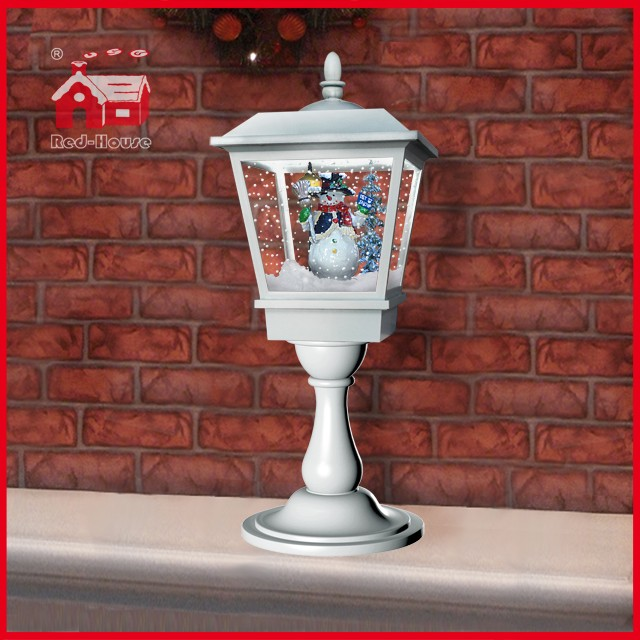 (LT27064H-W) White Snowman Tabletop Lamp for Christmas Decoration
