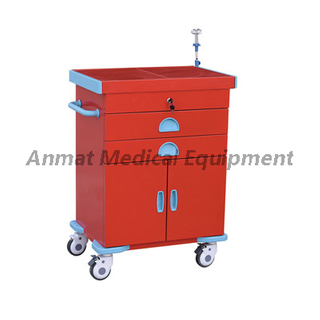 Full Red Steel Emergency Trolley Price for sell