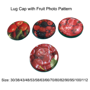 Fruit Patterned Twist Off Caps