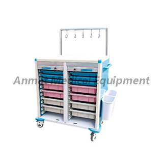 Medication IV treatment cart with utility ABS baskets