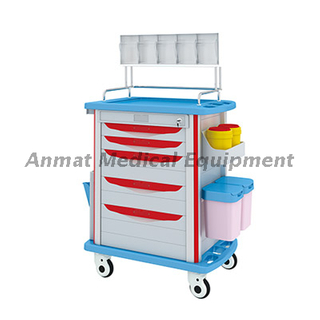 hospital crash cart for mobile anesthesia trolley specification
