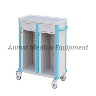 Hospital patient nursing case of clip cart