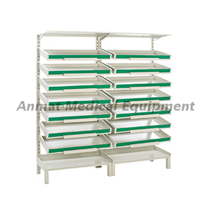 Carbon steel double adjustable drug rack