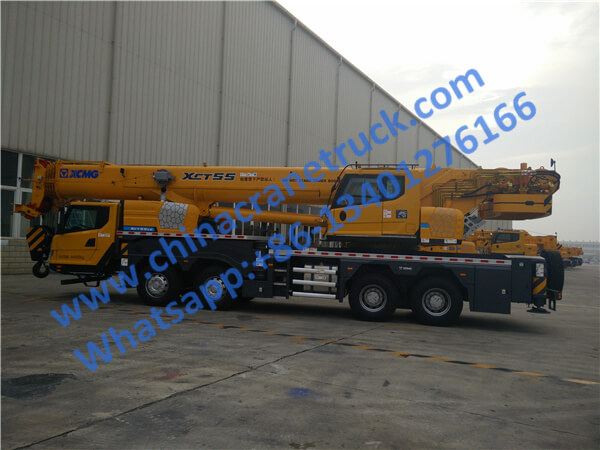 XCMG 55 ton new knuckle boom crane truck XCT55 from China