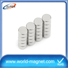Best selling and high properties Ni coated neodymium small disc magnets