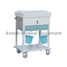 Hospital patient nursing steel- plastic treatment trolley