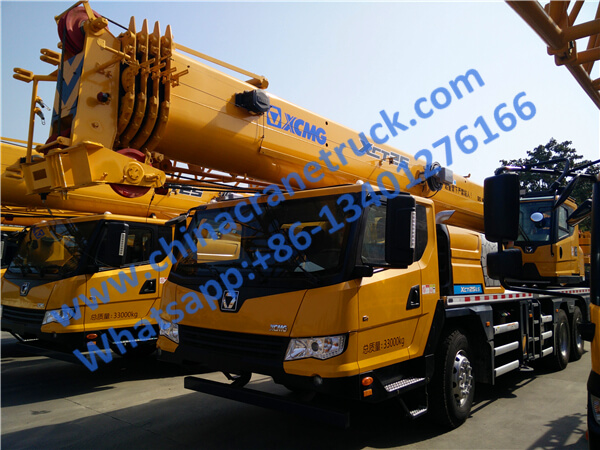 XCMG 25 ton truck mounted knuckle boom crane XCT25 from