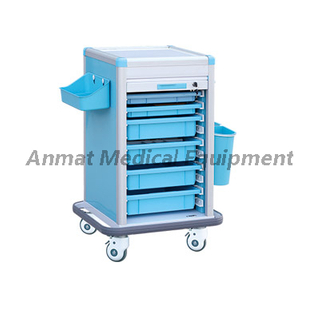 Hospital Furniture Luxury ABS Nursing Medicine Trolley