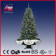 (40110U190-GS) Snowing Christmas Tree with Umbrella Base Beautiful Green Color
