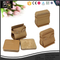China Supplier Promotional Square Custom Leather Tea Cup Coaster