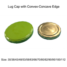 Metal Lug Cap with Decorated Edge