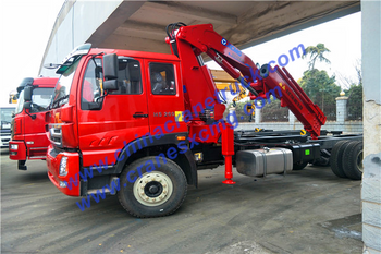 Customer order 10 ton knuckle boom truck-mounted crane