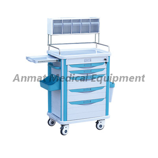 Hospital Furniture Luxury ABS Nursing Trolley Anaesthetic trolley
