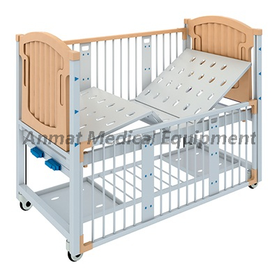 Safety Metal Siderails Single Crank Hospital Pediatric bed