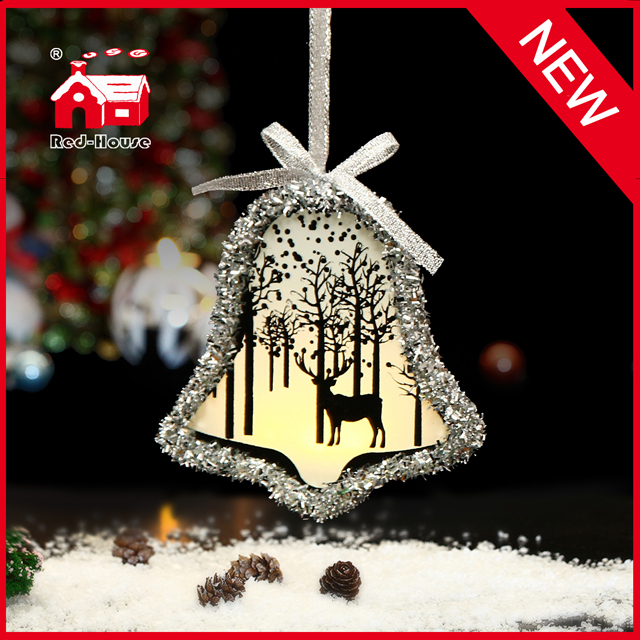 Bell Shaped Glass Ornaments for Christmas