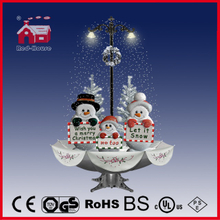 (40110U170-3SB-SS) Snowing Christmas Decorations with Umbrella Base