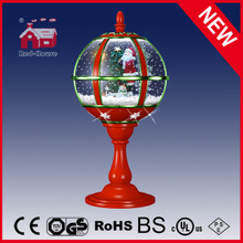 (LT30059B-RG11) Antique Design Snow Globe Tabletop Lamp with LED Lights