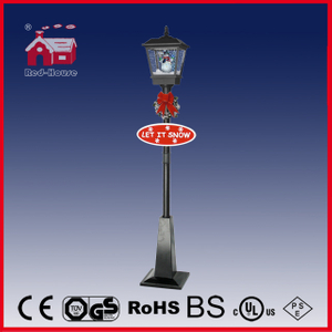 (LV180H-HH) New Design Black Christmas Street Lamp with Snow Flakes